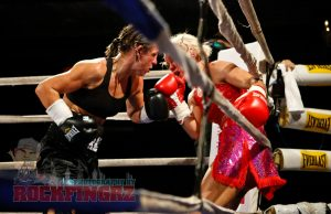 Diana Prazak fighting Shannon O'Connell on March 1.