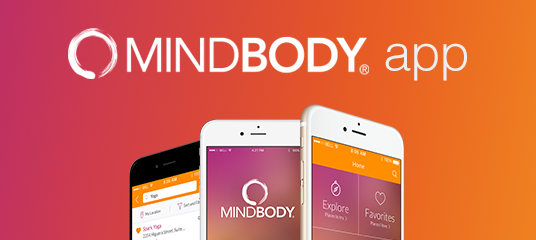 Powered by the MindBody app